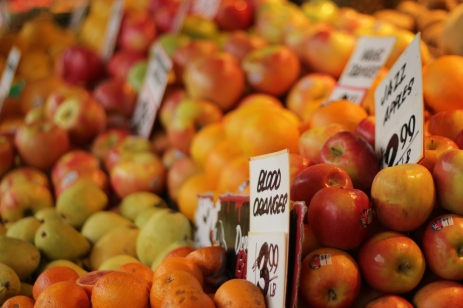 Fresh produce in Pike Place, Seattle