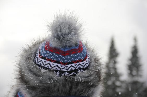 Hat full of snowflakes
